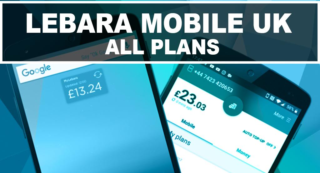 Lebara Mobile UK All Plans