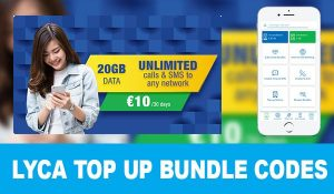 lyca Top up bundle Codes