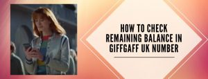 methods to check credit in GiffGaff account